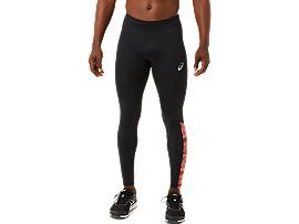 ASICS Sport Run Tight Print Performance Black / Flash Coral Hombre