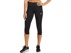 ASICS Sport Rflc Knee Tight Performance Black / Flash Coral Mujer