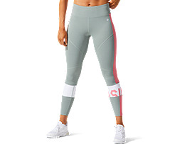 ASICS Color Block Cropped Tight 2 Slate Grey / Peach Petal Mujer