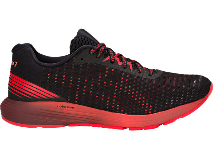 Men's DYNAFLYTE 3 | BLACK/RED ALERT | Running | ASICS Outlet