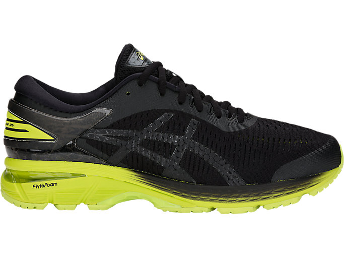 Alternative image view of GEL-KAYANO 25, BLACK/NEON LIME