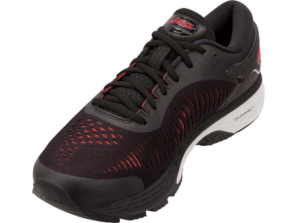 Men's GEL-Kayano 25 | Black/Classic Red | Running Shoes | ASICS