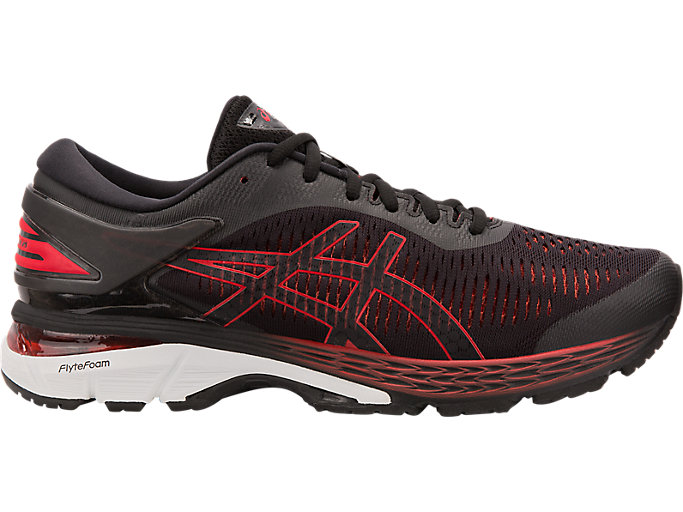 Alternative image view of GEL-KAYANO 25, BLACK/CLASSIC RED