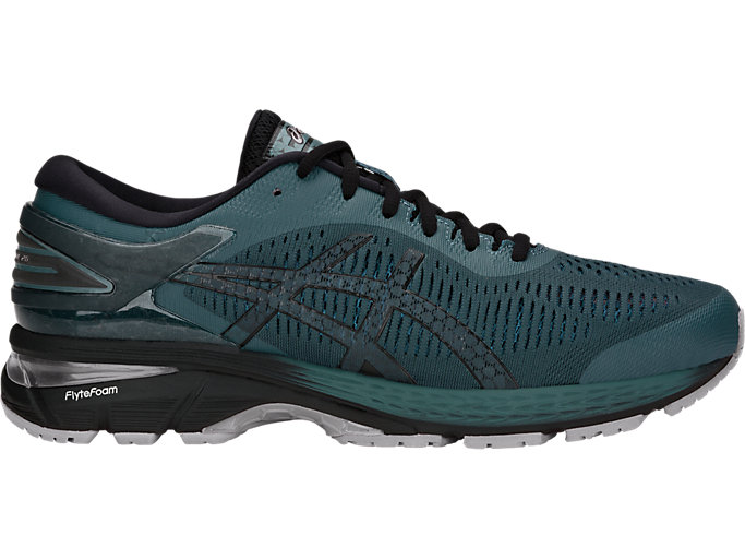 Right side view of GEL-KAYANO 25, IRONCLAD/BLACK