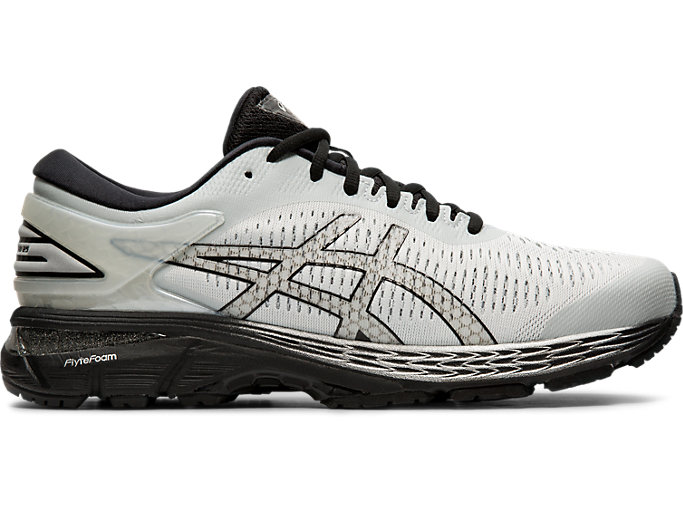 Right side view of GEL-KAYANO 25, GLACIER GREY/BLACK