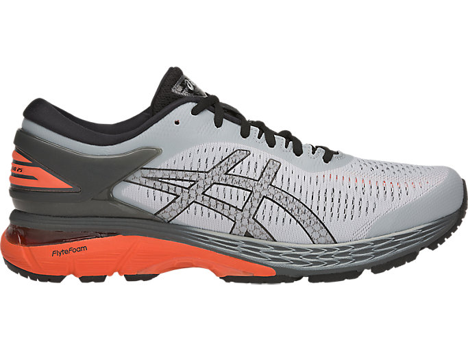 Alternative image view of GEL-KAYANO 25, MID GREY/NOVA ORANGE
