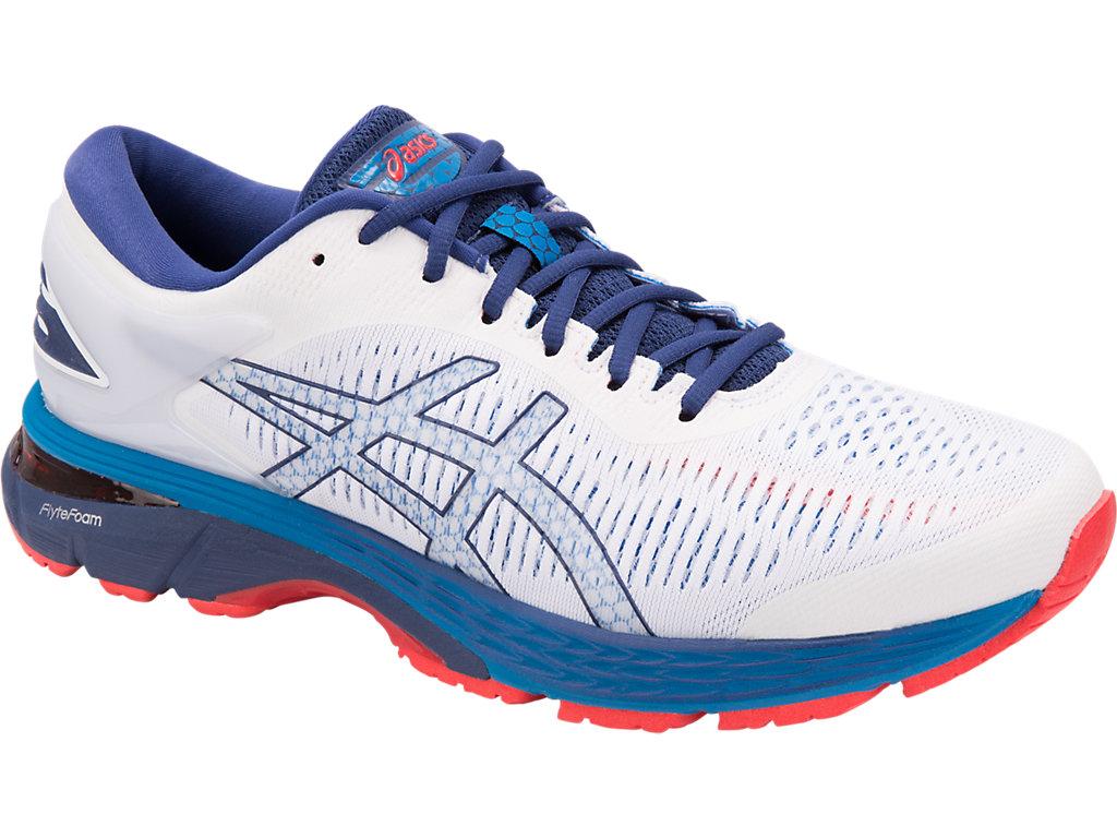 Men's GEL-KAYANO 25 | WHITE/BLUE PRINT | Running | ASICS Outlet