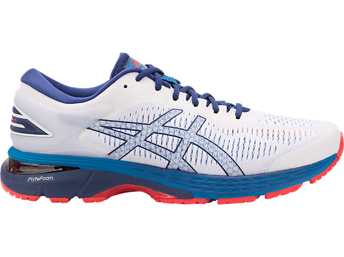 Men's GEL-KAYANO 25 | WHITE/BLUE PRINT | Running | ASICS Outlet