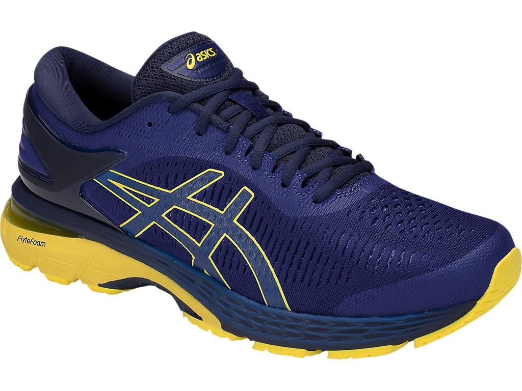 Men's GEL-Kayano 25   Asics Blue/Lemon Spark   Running Shoes   ASICS