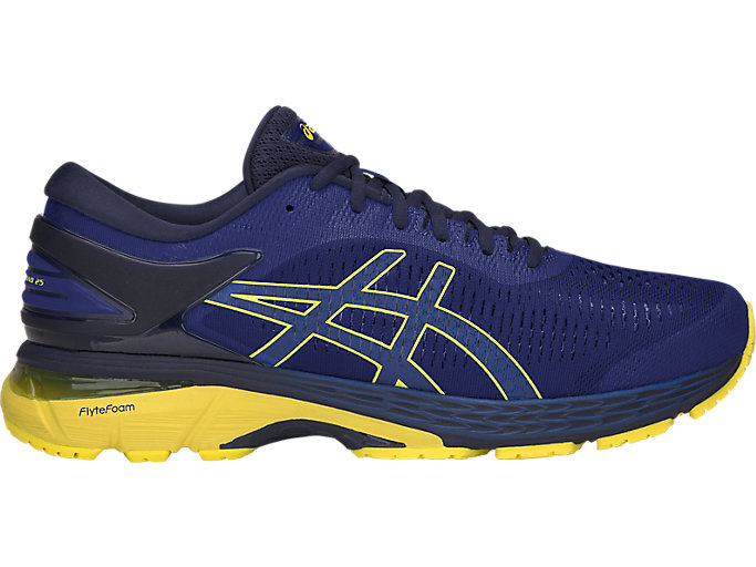 habla tobillo Compadecerse  Men's GEL-KAYANO 25 | ASICS BLUE/LEMON SPARK | Running | ASICS Outlet