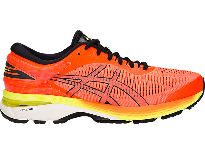 Alternative image view of GEL-KAYANO 25, SHOCKING ORANGE/BLACK
