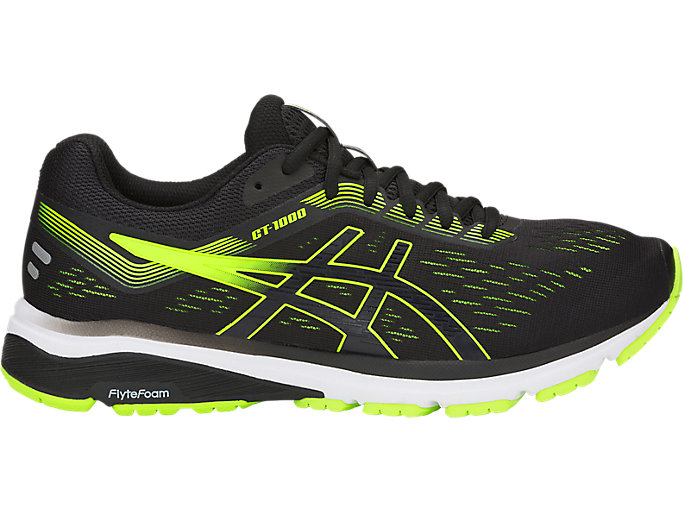 Men's GT-1000 7 | Black/Hazard Green | Running Shoes | ASICS