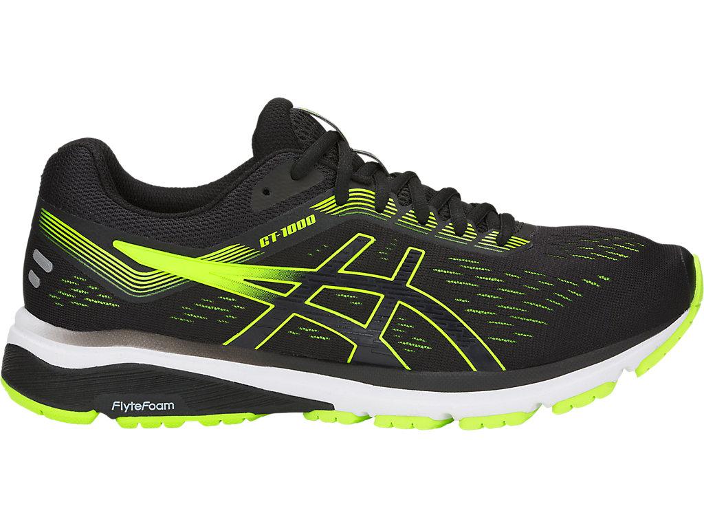 Men's GT-1000 7   Black/Hazard Green   Running Shoes   ASICS