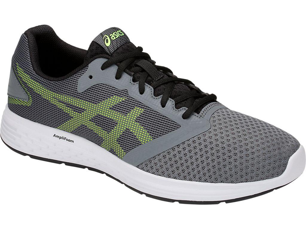 Men's Patriot 10   Steel Grey/Hazard Green   Running Shoes   ASICS