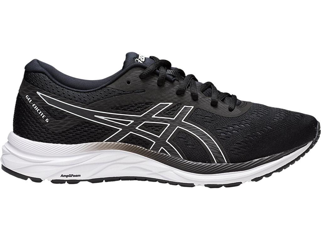 Men's GEL-EXCITE 6 | Black/White | Running Shoes | ASICS