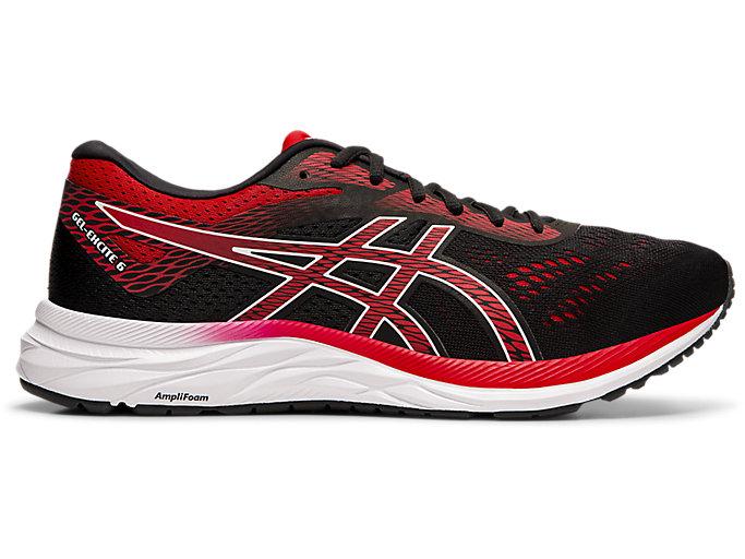 Men's GEL-EXCITE 6 | Black/Speed Red | Running Shoes | ASICS