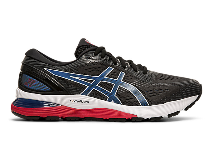Alternative image view of GEL-NIMBUS 21, Black/Electric Blue