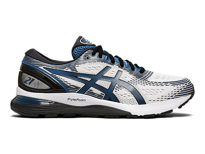 Men's GEL-NIMBUS 21 | White/Deep Sapphire | Running Shoes | ASICS