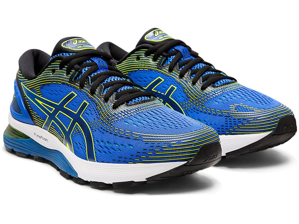 Men's GEL-NIMBUS 21 | ILLUSION BLUE/BLACK | Chaussures running ...