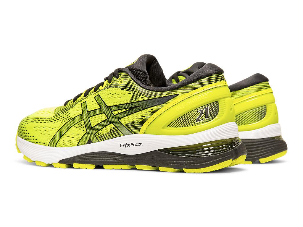 vino Medalla muñeca  Men's GEL-NIMBUS 21 | Safety Yellow/Black | Running Shoes | ASICS