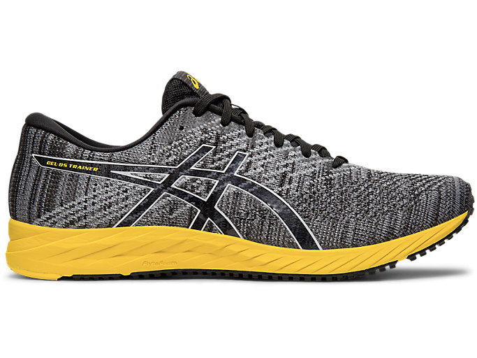 Right side view of GEL-DS TRAINER 24, BLACK/TAI-CHI YELLOW