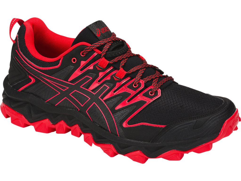 Men's GEL-FUJITRABUCO 7   Black/Classic Red   Trail Running   ASICS
