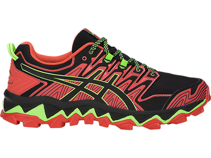Alternative image view of Chaussures de trail running ASICS GEL-FUJITRABUCO 7 pour hommes, RED SNAPPER/BLACK