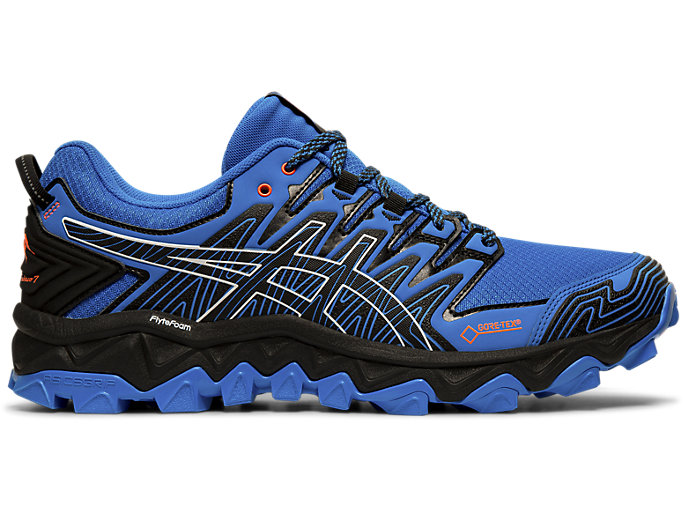Right side view of GEL-FUJITRABUCO 7 G-TX, ELECTRIC BLUE/BLACK