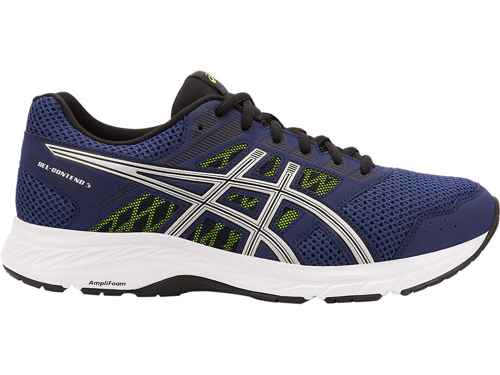 Men's GEL-Contend 5 | Indigo Blue/Silver | Running Shoes | ASICS