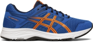 orange asics shoes