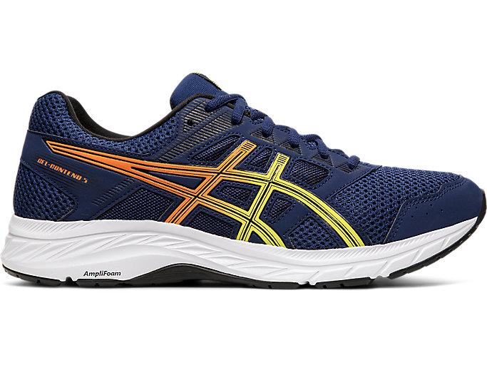 Men's GEL-Contend 5   Blue Expanse/Sour Yu   Running Shoes   ASICS