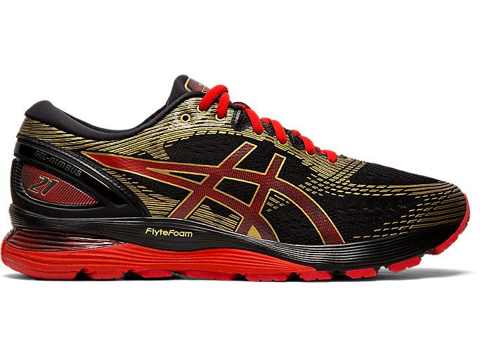 Men's GEL-Nimbus 21 | Black/Classic Red | Running Shoes | ASICS