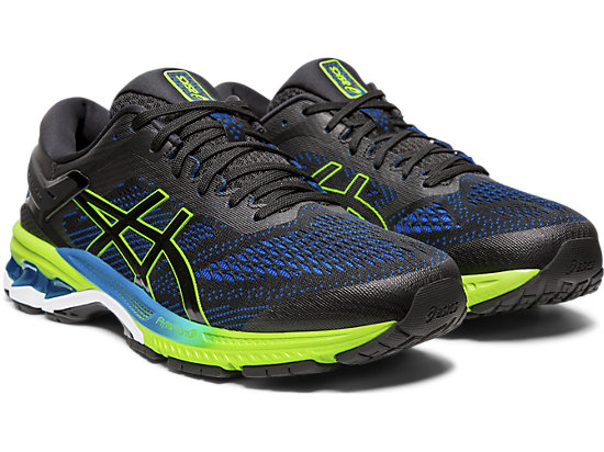 GEL-KAYANO 26 BLACK/ELECTRIC BLUE
