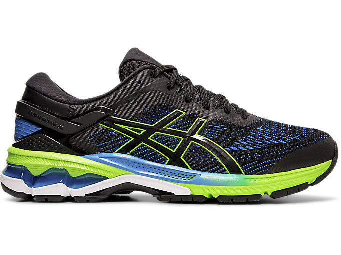 Alternative image view of GEL-KAYANO 26, BLACK/ELECTRIC BLUE