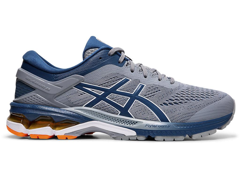 Línea del sitio Aumentar desarrollando  Men's GEL-KAYANO 26 | Sheet Rock/Mako Blue | Running Shoes | ASICS