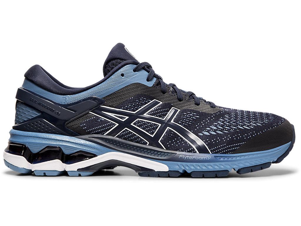 Men's GEL-KAYANO 26 | Midnight/ Grey Floss | Running Shoes | ASICS