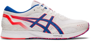 white asics trainers