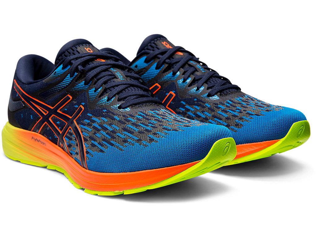 Men's DYNAFLYTE 4 | Peacoat/ Flash Coral | Running Shoes | ASICS
