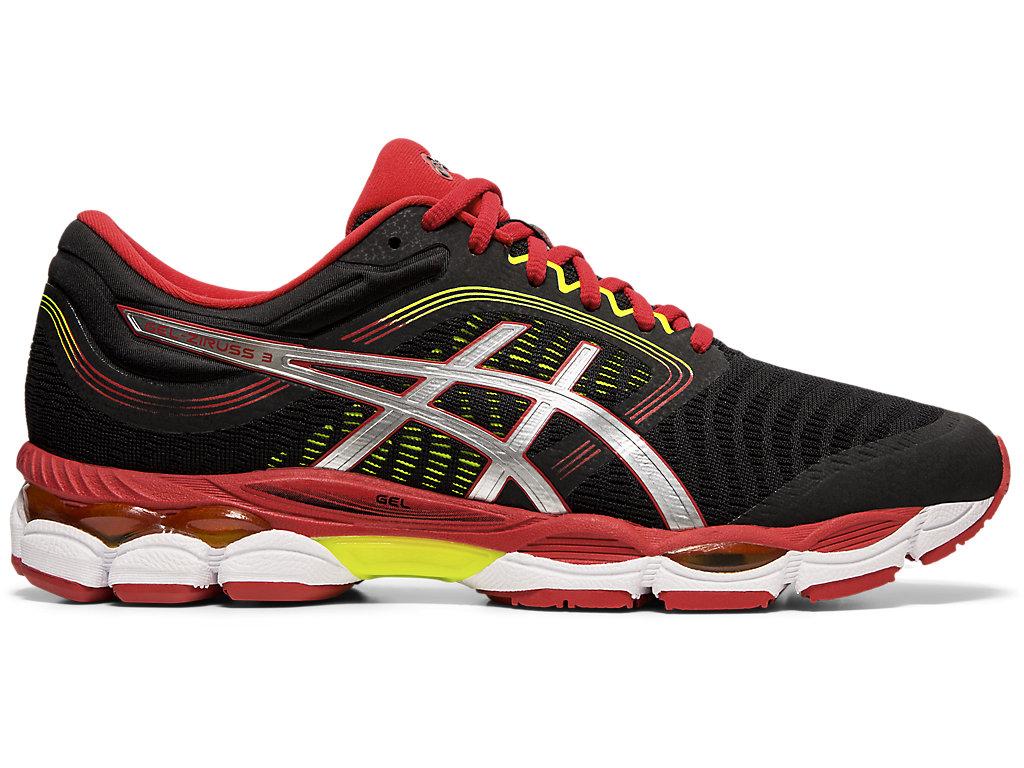 Men's GEL-ZIRUSS 3 | Black/Speed Red | Running Shoes | ASICS
