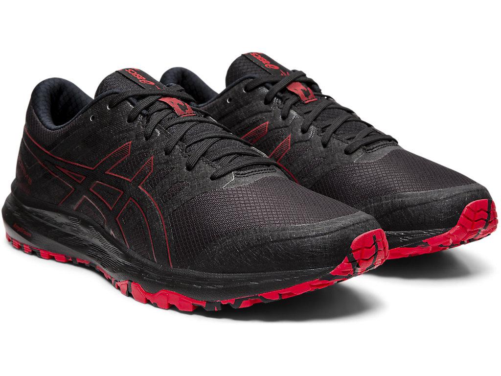 Men's GEL-SCRAM 5   Black/Speed Red   Trail Running   ASICS