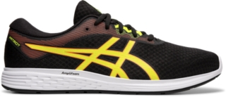yellow asics shoes