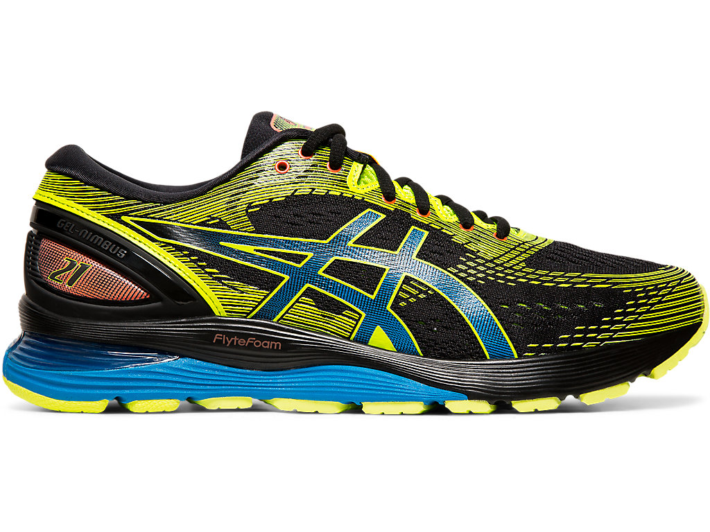 Men's GEL-Nimbus 21 SP   Black/Safety Yellow   Running Shoes   ASICS