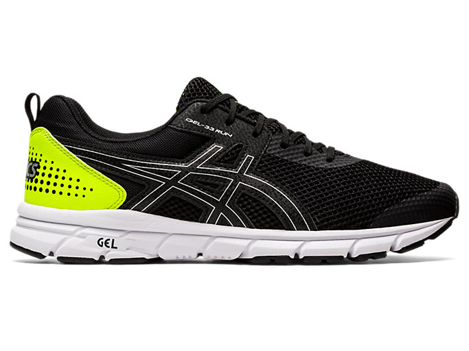 Right side view of GEL-33 RUN, BLACK/SILVER