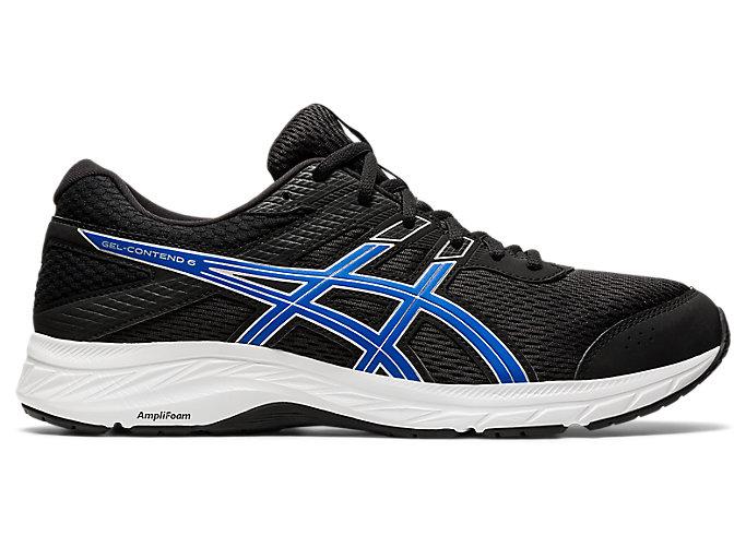 Men's GEL-CONTEND 6 | Black/Tuna Blue | Running Shoes | ASICS