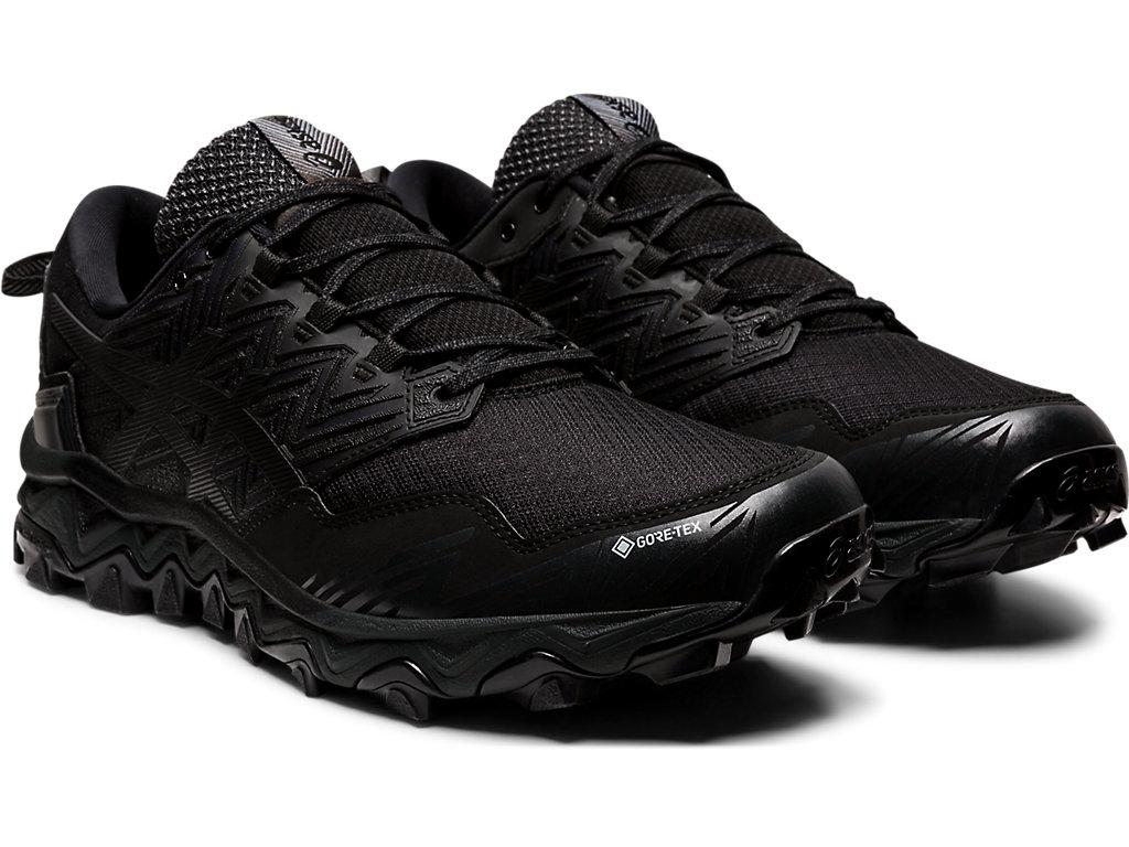 Men's GEL-FujiTrabuco 8 G-TX | Black/Black | Trail Running | ASICS