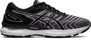 asics all black running shoes
