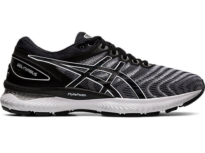 Men's GEL-NIMBUS 22   White/Black   Running Shoes   ASICS