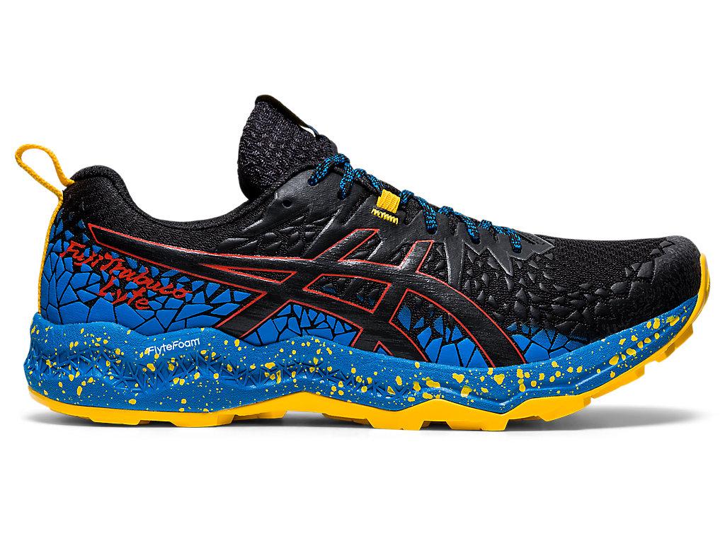 Men's FujiTrabuco Lyte | Black/Directoire Blue | Trail Running | ASICS