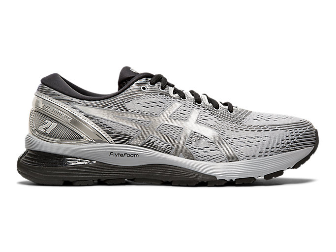Mejora Puede soportar perspectiva  Men's GEL-NIMBUS 21 PLATINUM | SHEET ROCK/SILVER | Running Shoes | ASICS
