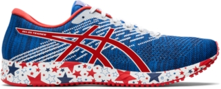 mens red asics trainers